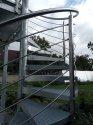 točité schodiště - žár. zinek - zábradlí - nerez